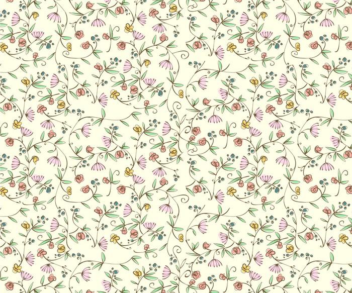 mural de parede classic ditsy floral seamless wallpaper • pixers