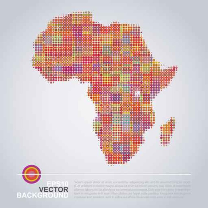 Dotted Map Design Colorful Africa Map Wall Mural Pixers We