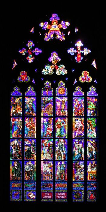 Nálepka Pixerstick Vitráž - Náboženství