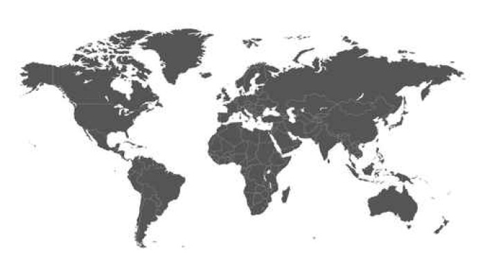 Blank grey political world map isolated on white background. Worldmap on blank middle east map, blank africa map, time zone map, blank eurasia map, china map, blank caribbean map, brazil map, usa map, continents map, united kingdom map, blank france map, united states map, blank americas map, europe map, blank us map, worl map, tectonic plates map, blank asia map, blank western hemisphere map, central america map,