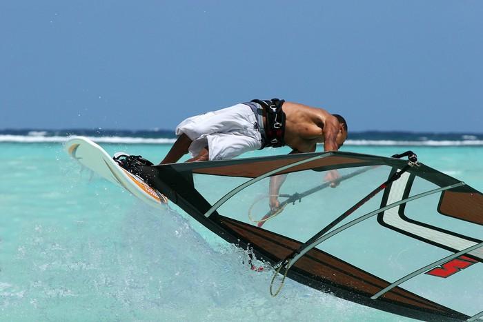Vinylová fototapeta Freestyle windsurfing - Vinylová fototapeta