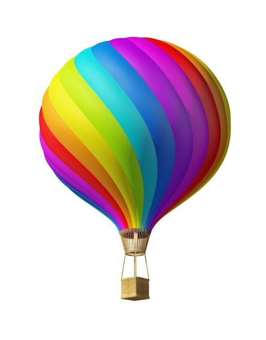 Carta da parati isolato colorata mongolfiera pixers for Carta da parati colorata