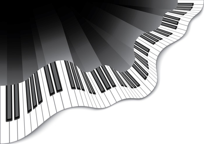 Abstract Piano Keyboard Wall Mural Pixers 174 We Live To
