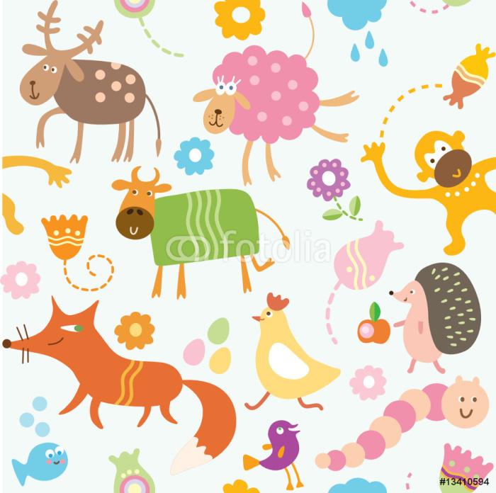 Vinylová Tapeta Seamless pattern pro děti - Ostatní Ostatní