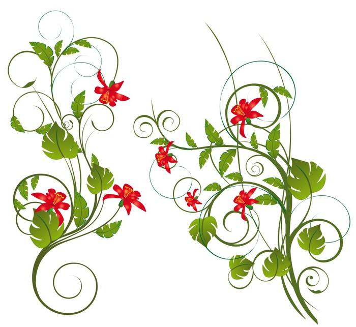 papier peint fleurs exotique pixers nous vivons pour changer. Black Bedroom Furniture Sets. Home Design Ideas