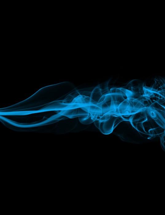 Vinylová Tapeta Modrý kouř na černém pozadí (vysoké rozlišení) - Témata