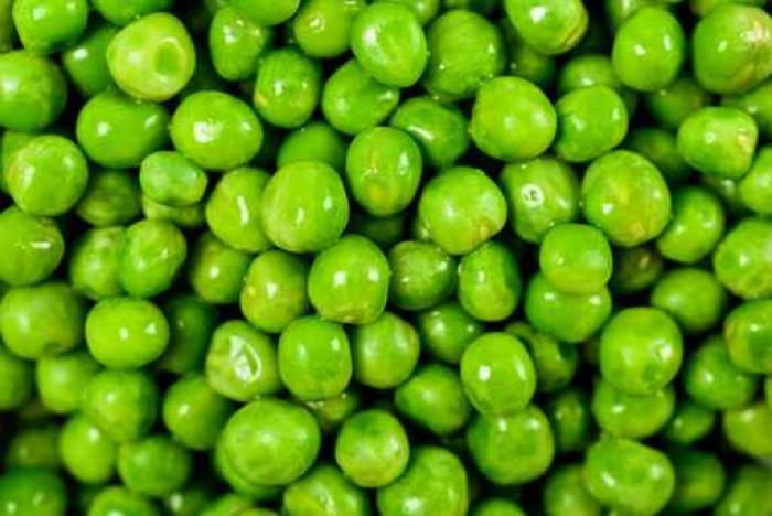 Vinylová Tapeta Hromadu čerstvých zelených hrášek Top View - Potraviny