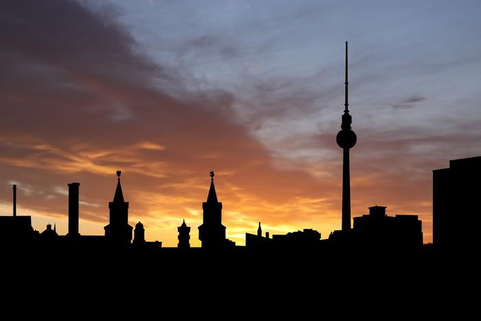 Vinylová Tapeta Berlín Skyline při západu slunce - Evropská města
