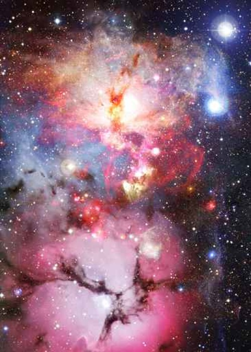 Bright galaxy in deep space pixerstick sticker science