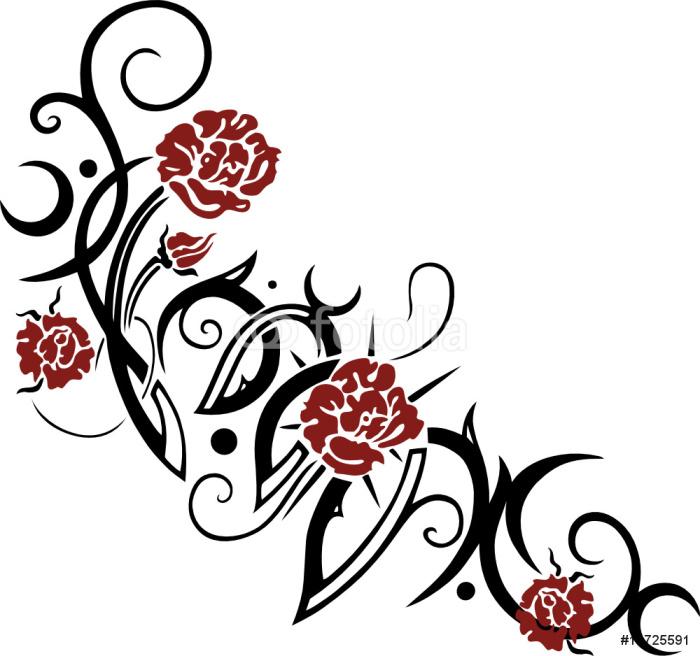 tapete tribal tattoo mit rosen pixers wir leben um zu ver ndern. Black Bedroom Furniture Sets. Home Design Ideas