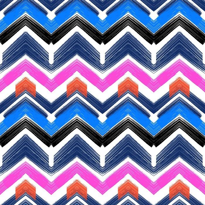 papier peint zigzag de motif dessin main multicolore pixers nous vivons pour changer. Black Bedroom Furniture Sets. Home Design Ideas