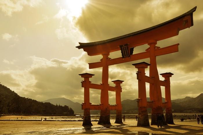 Vinylová Tapeta Velké torii u Miyajima - Asie