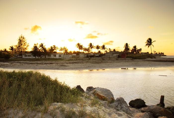 Vinylová Tapeta Sunset beach landscape - Voda