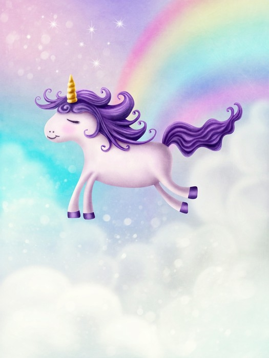 Cute little unicorn Wall Mural Pixers We live to change