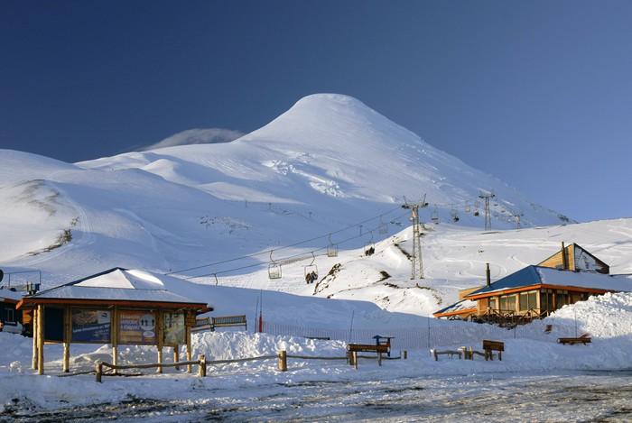 Vinylová Tapeta Refugio en Volcán Osorno - Prázdniny