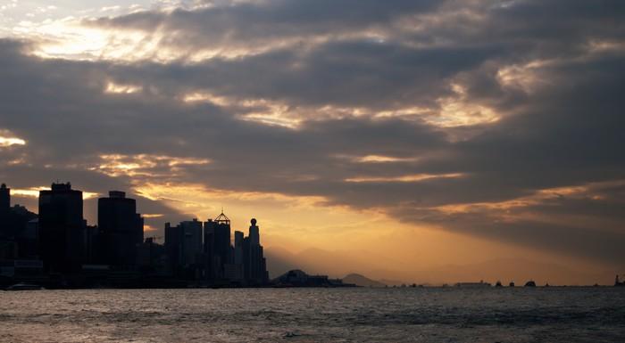 Vinylová Tapeta Victoria Harbour Sunset - Asie