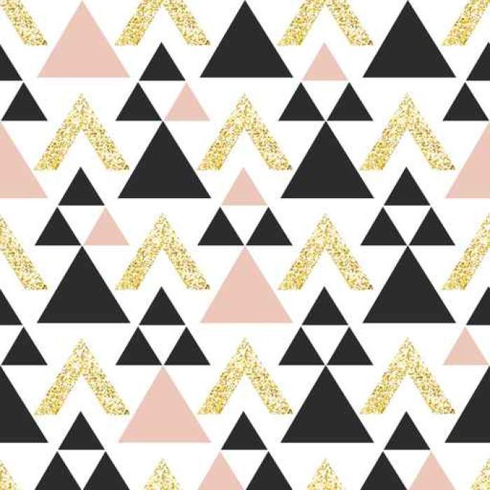 Tapete gold geometrisches dreieck hintergrund for Tapete gold muster