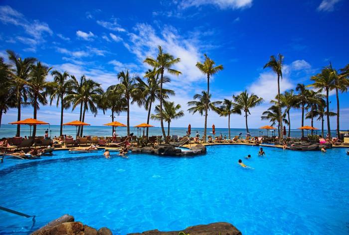 Vinylová Tapeta Plavecký bazén na pláži Waikiki, Hawaii - Témata