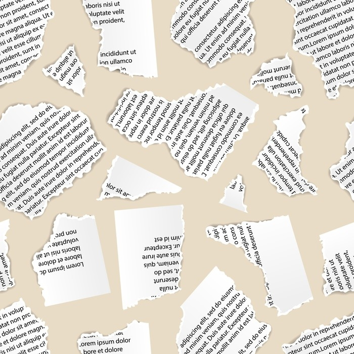 Vinilo pixerstick pedazos de papel rasgado blanco de for Papel vinilo blanco