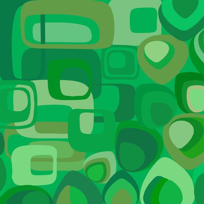 Vinilo pixerstick papel pintado verde del vector en estilo - Papel pintado y vinilo ...