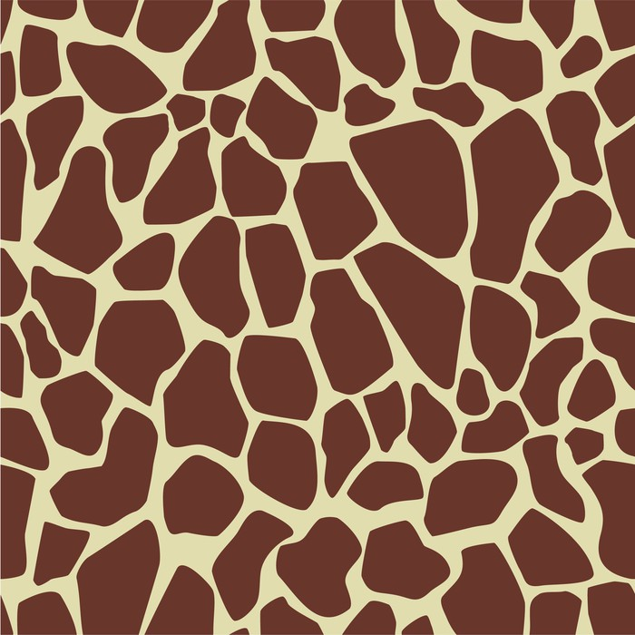 Vinylová Tapeta Opakující se vzor žirafa kožíšek - Savci