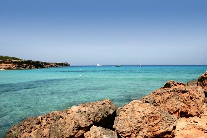 Vinylová Tapeta Formentera baleárské ostrov Cala Saona Beach - Evropa