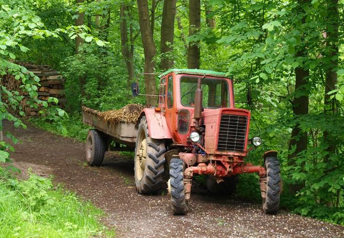 Vinylová Tapeta Staré traktory - Zemědělství