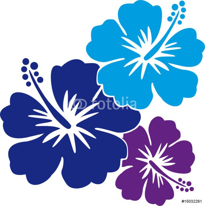 Hawaiiblumen blau