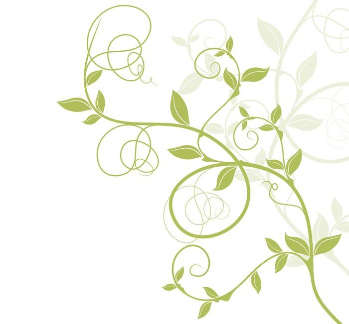 Fototapete bord re dekor vectoriel vert florale musterung der natur pixers wir leben um - Pferde bordure kinderzimmer ...