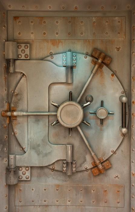 Old safe or vault door with rust stains Vinyl Wall Mural - Life & Old safe or vault door with rust stains Wall Mural \u2022 Pixers® \u2022 We ...