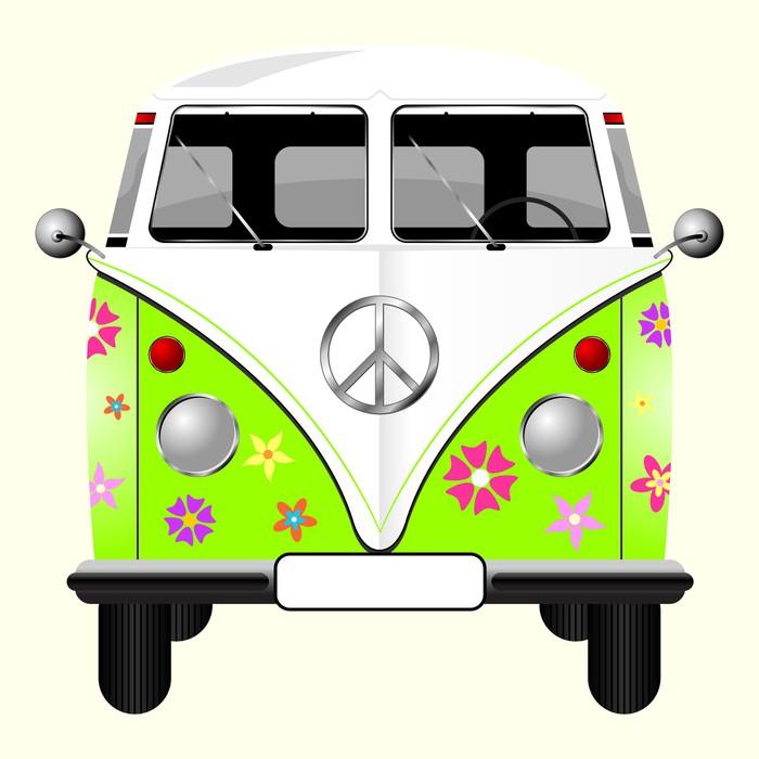 papier peint fleuri hippie van isol sur fond jaune p le. Black Bedroom Furniture Sets. Home Design Ideas
