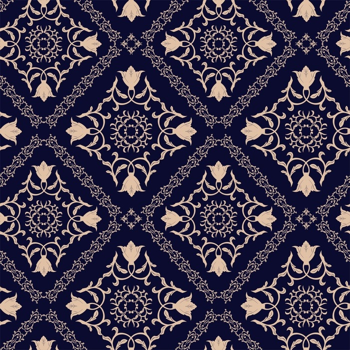 poster motif floral fond d 39 cran baroque damass fond. Black Bedroom Furniture Sets. Home Design Ideas