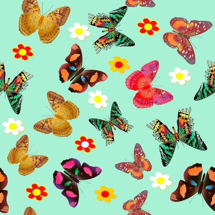 papier peint motifs papillon et fleur fond transparent. Black Bedroom Furniture Sets. Home Design Ideas