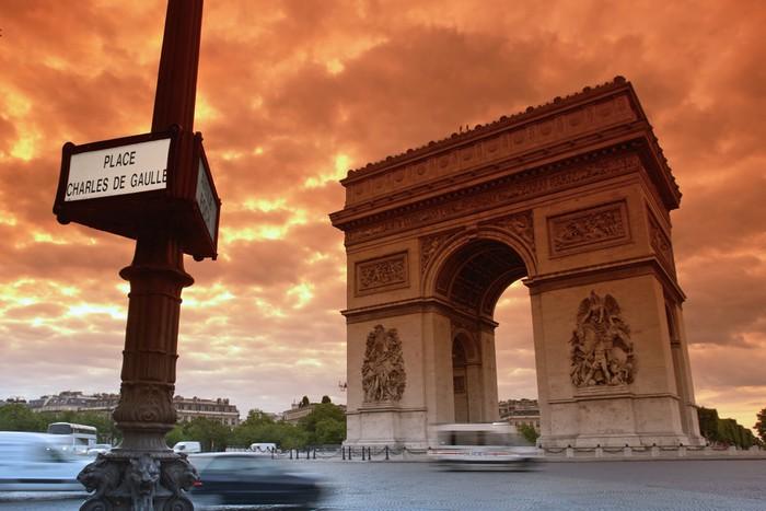 Vinylová Tapeta Paris Arc de Triomphe et místo Charle de Gaule - Evropská města
