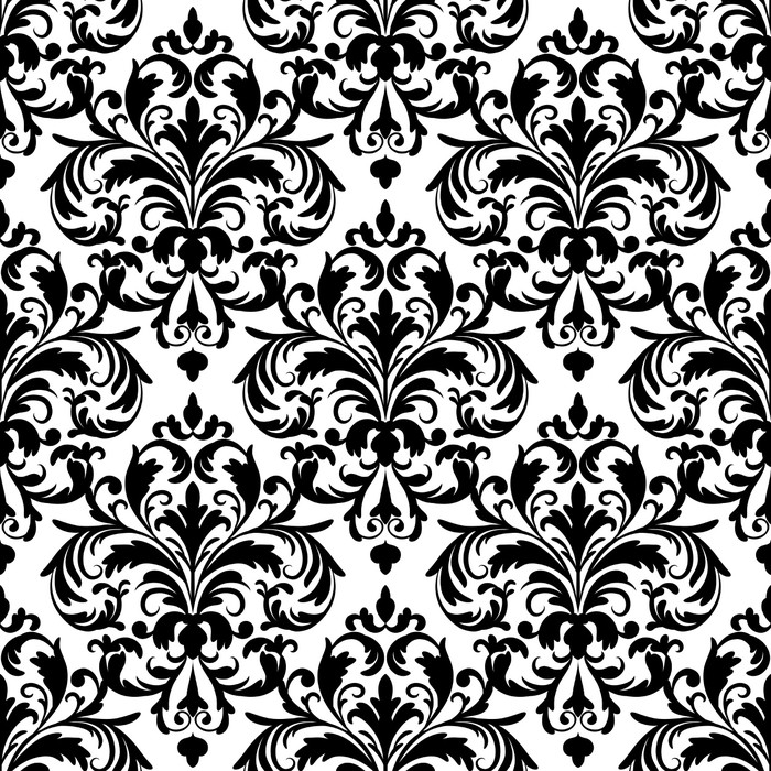 tableau sur toile motif de papier peint sans couture noir et blanc pixers nous vivons pour. Black Bedroom Furniture Sets. Home Design Ideas