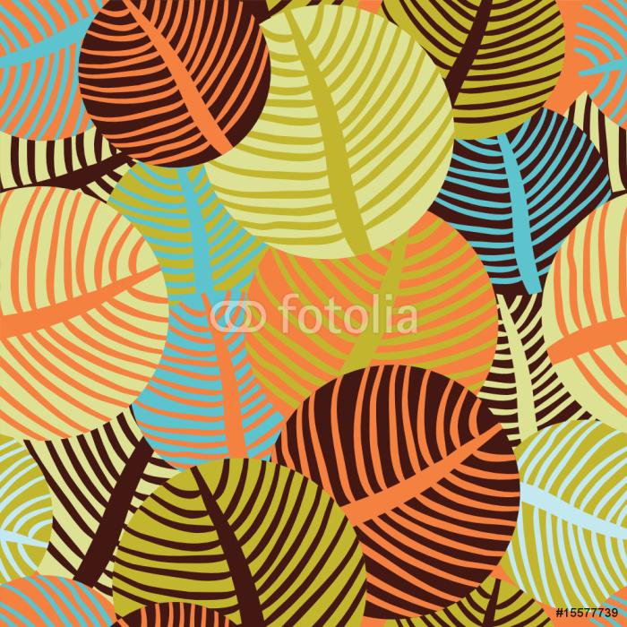 seamless floral pattern Sticker - Pixerstick - Backgrounds