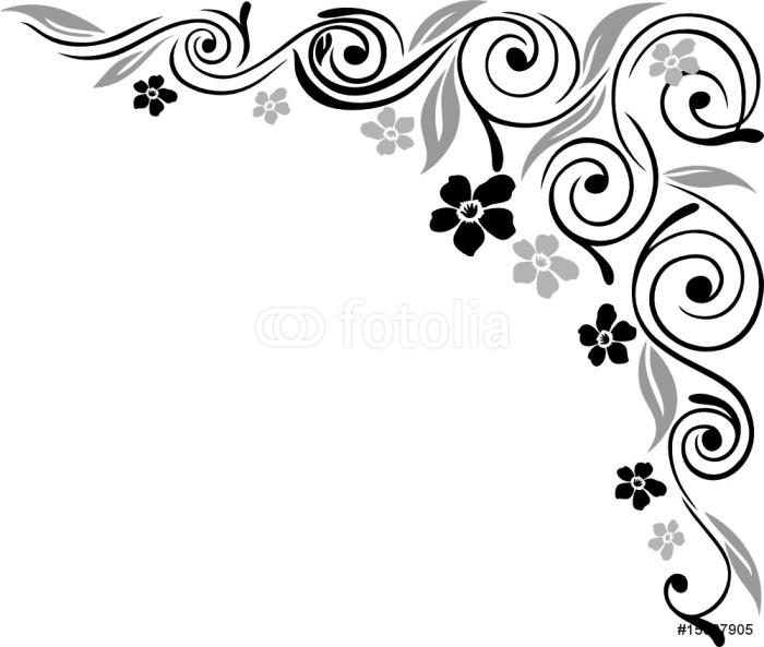 fototapete blumen bl ten ranke filigran ornamental. Black Bedroom Furniture Sets. Home Design Ideas
