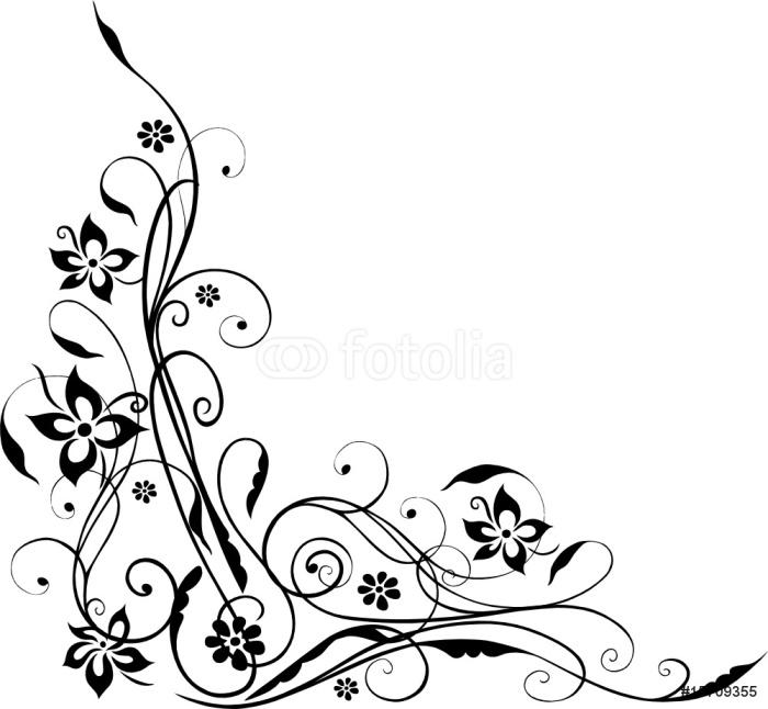 Vinylová Tapeta Květiny, Blumenranke, filigran, květinový - Květiny