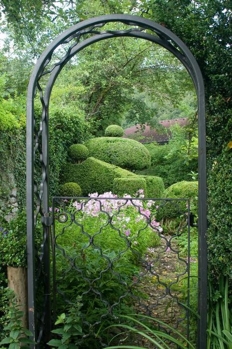 Vinylová Tapeta Romantischer Garten im Englischen Stil - Domov a zahrada
