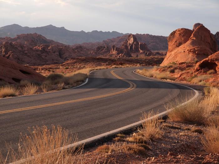 Vinylová Tapeta Red Hot Highway - Amerika