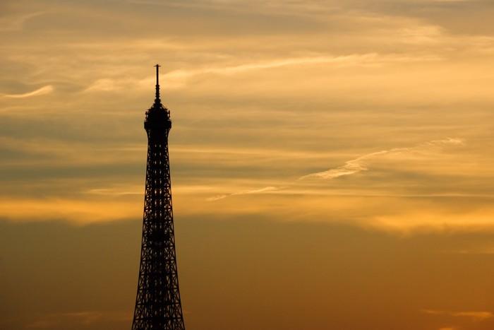 Vinylová Tapeta Západ slunce na Eiffelova věž - Evropská města