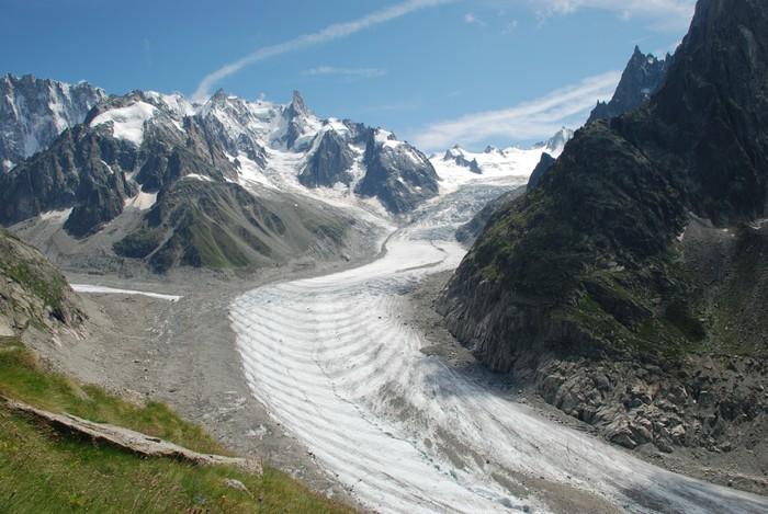 Vinylová Tapeta La Mer de Glace, Massif du Mont-Blanc, Francie - Přírodní krásy