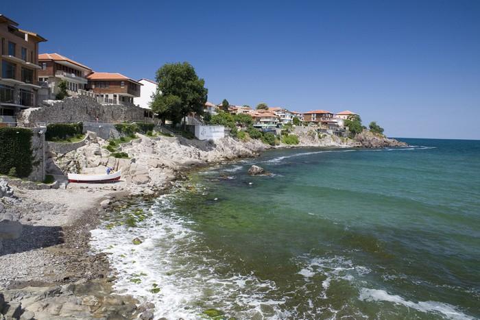 Vinylová Tapeta Vesnice na pobřeží Černého moře - Evropa