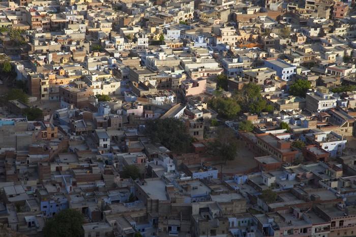 Vinylová Tapeta Jaipur, abendliches häusermeer - Město