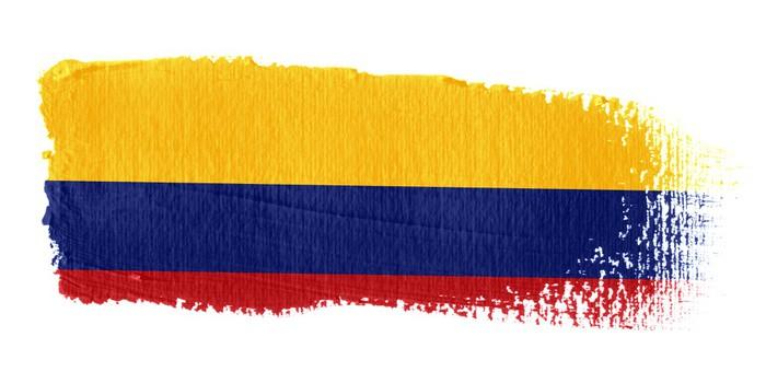 Vinylová Tapeta Vlajka Kolumbie - Amerika