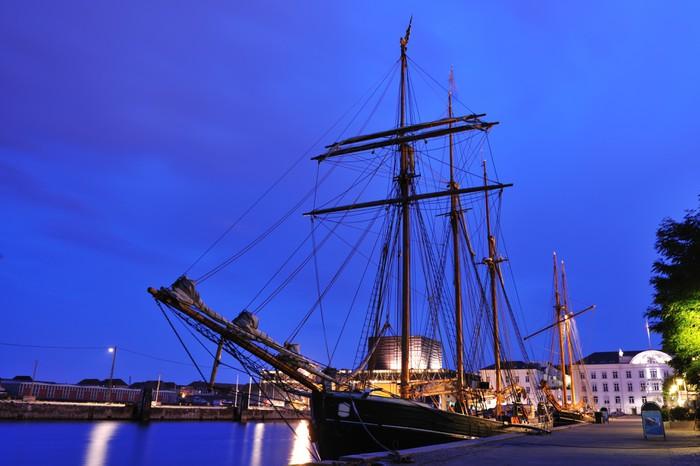 Vinylová Tapeta Tall loď v přístavu Kodaň Dánsko - Evropa