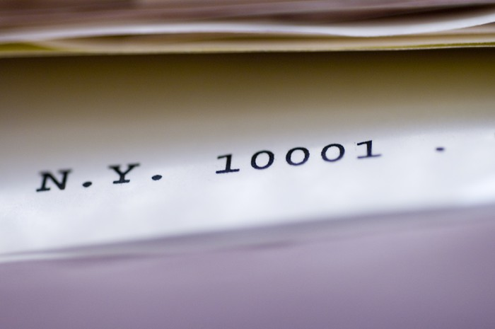 Vinylová Tapeta Poštovní směrovací číslo - Čtení