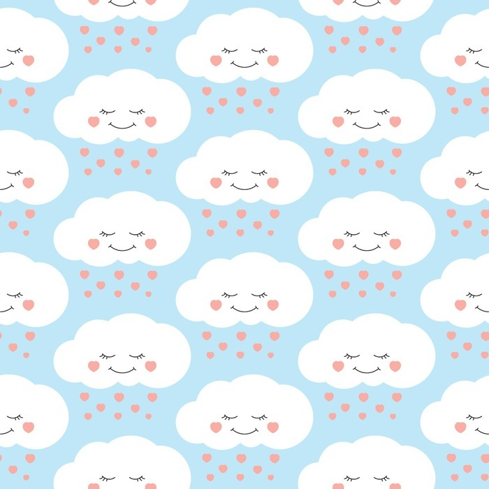 Cute baby cloud pattern vector seamless children print for Cute baby fabric prints