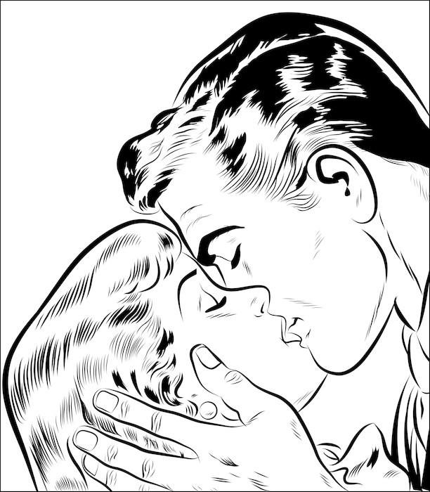couple amoureux qui s'embrasse