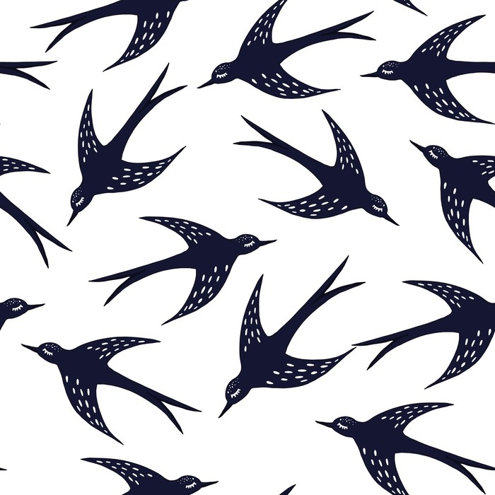 Swallow Pattern Wall Mural Pixers We Live To Change